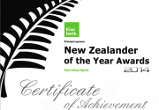New Zealander of the Year Awards 2014 – Ellis nominated for award