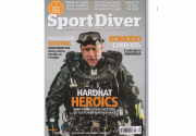 Ellis models as brand ambassador for Dive Sangha in Sport Diver Magazine